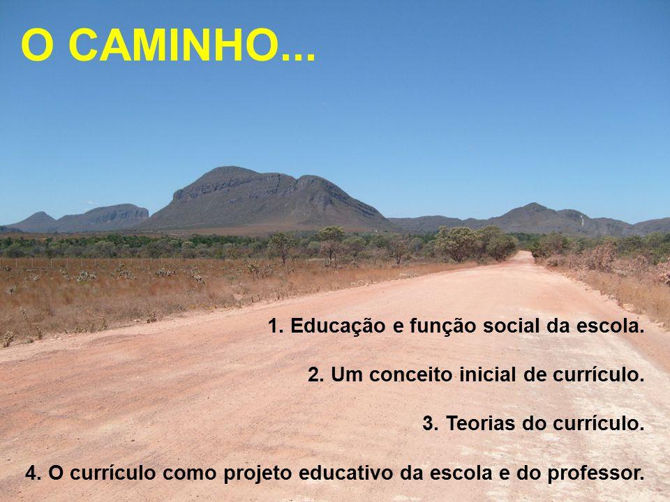 O CAMINHO... 1. Educação e função social da escola.