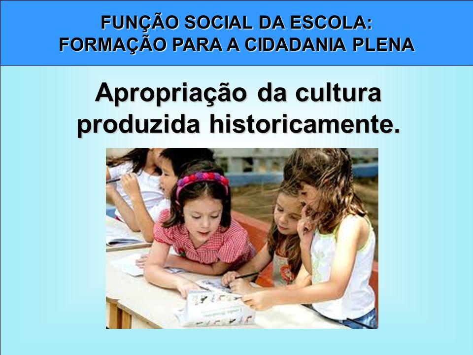 Apropriação da cultura produzida historicamente.
