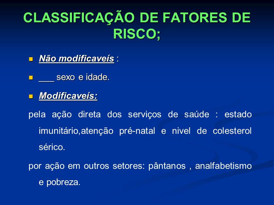 CLASSIFICAÇÃO DE FATORES DE RISCO;