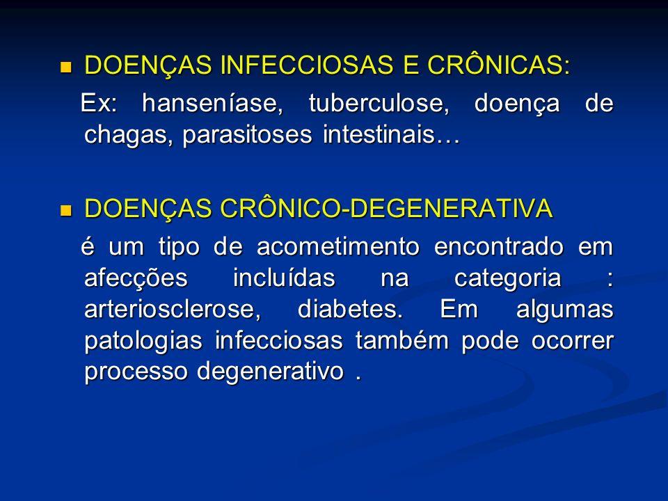 DOENÇAS INFECCIOSAS E CRÔNICAS: