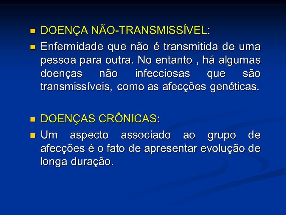 DOENÇA NÃO-TRANSMISSÍVEL:
