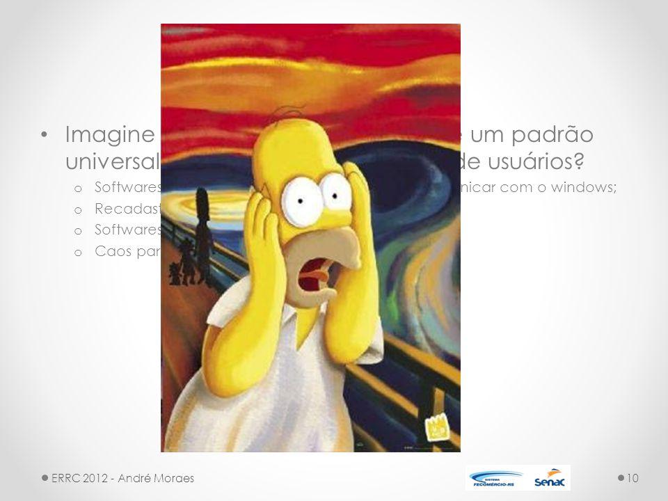 LDAP Imagine se a Microsoft não adotasse um padrão universal para armazenar os dados de usuários