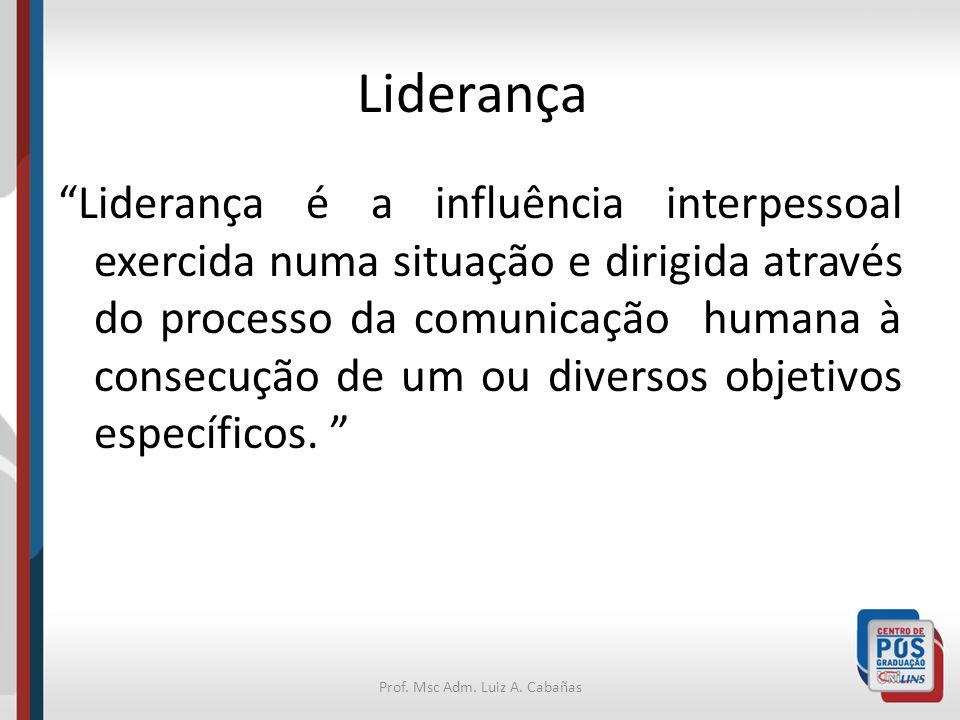 Prof. Msc Adm. Luiz A. Cabañas