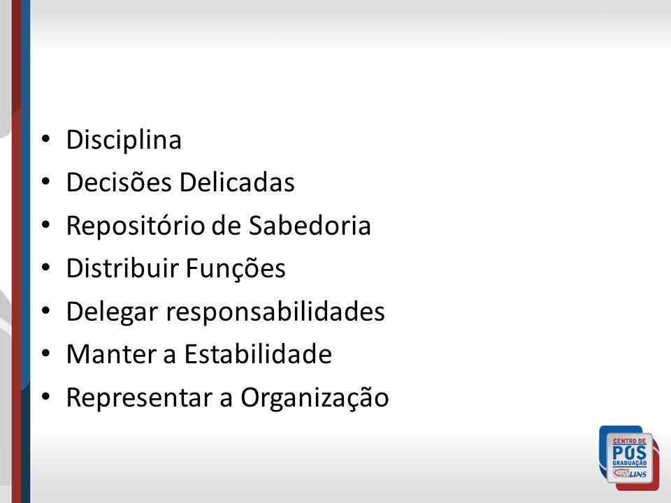 Disciplina Decisões Delicadas. Repositório de Sabedoria. Distribuir Funções. Delegar responsabilidades.