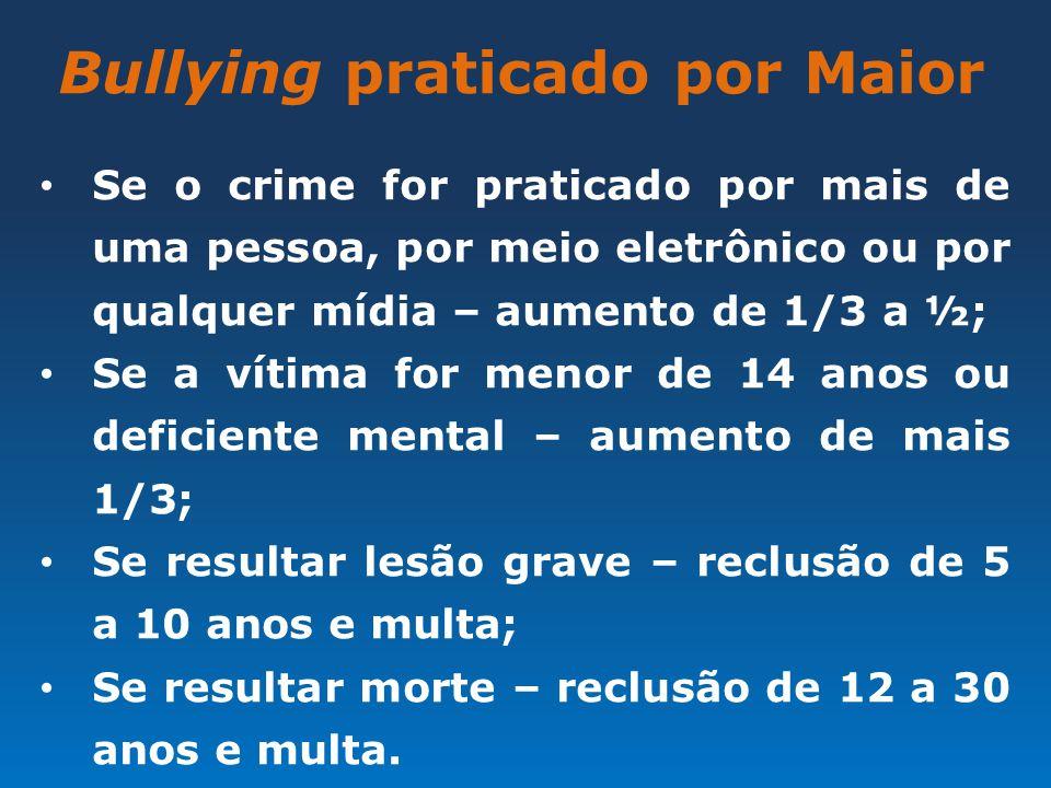 Bullying praticado por Maior