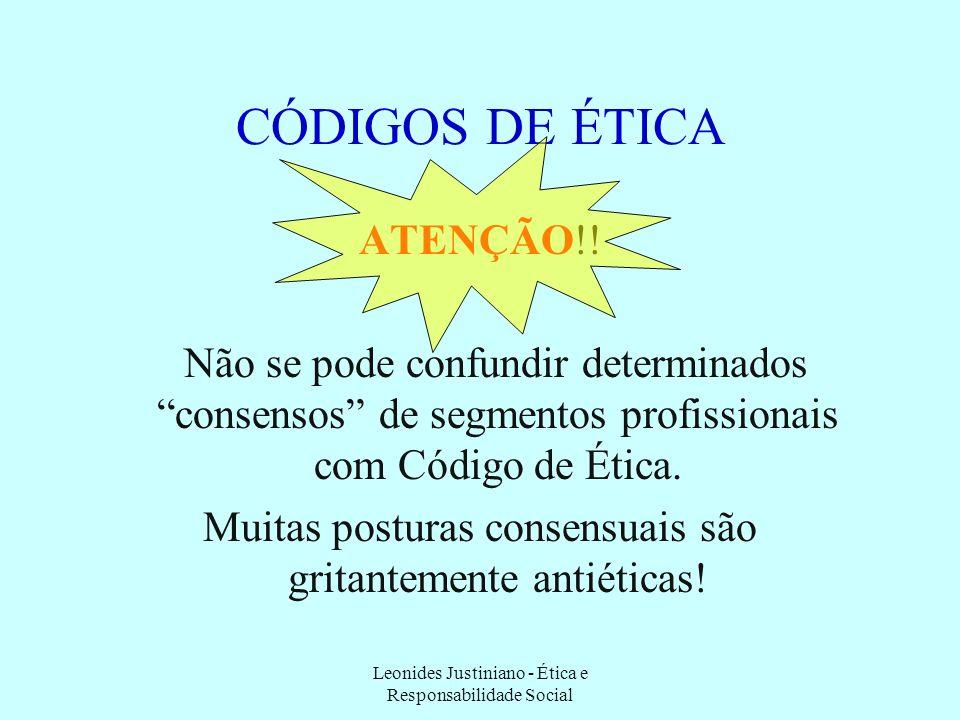 CÓDIGOS DE ÉTICA ATENÇÃO!!