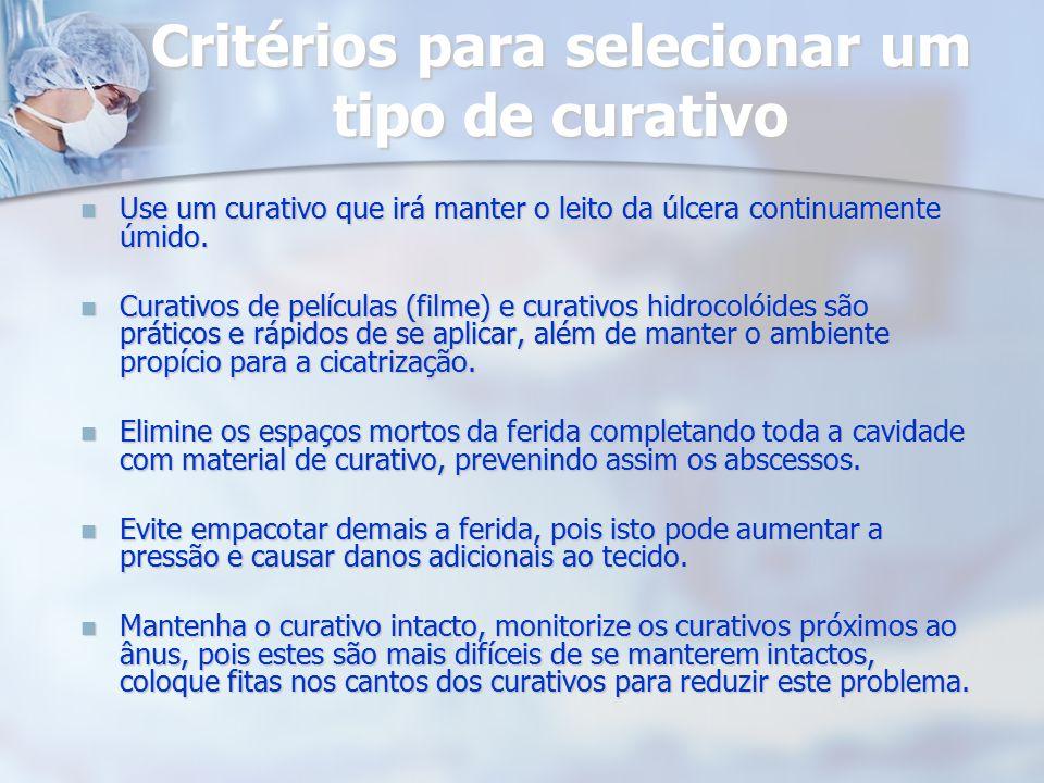 Critérios para selecionar um tipo de curativo