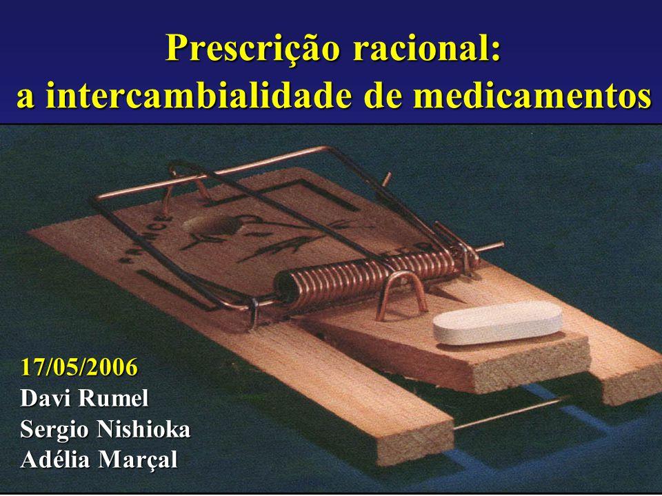 Prescrição racional: a intercambialidade de medicamentos