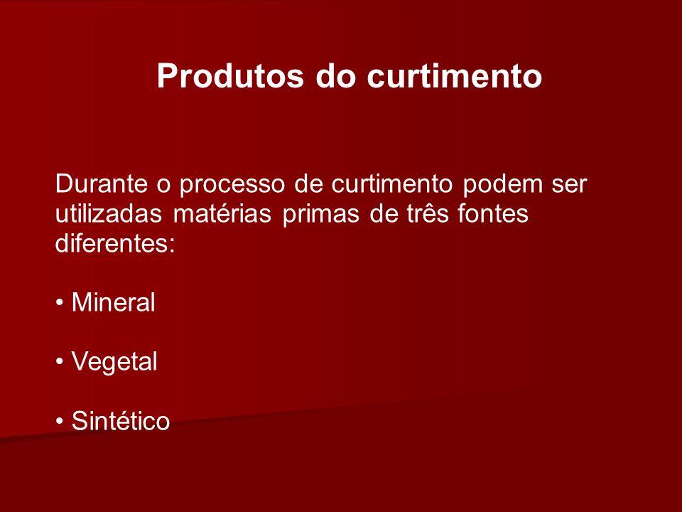 Produtos do curtimento