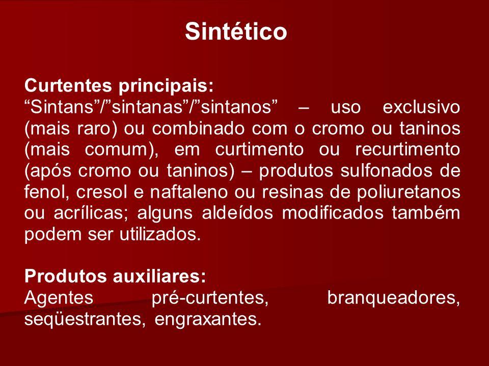 Sintético Curtentes principais: