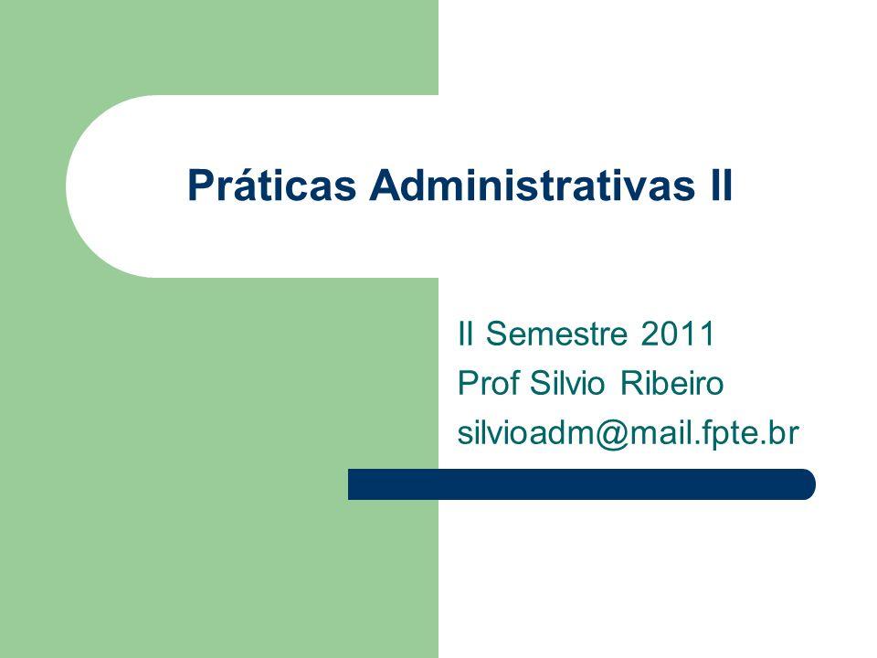 Práticas Administrativas II