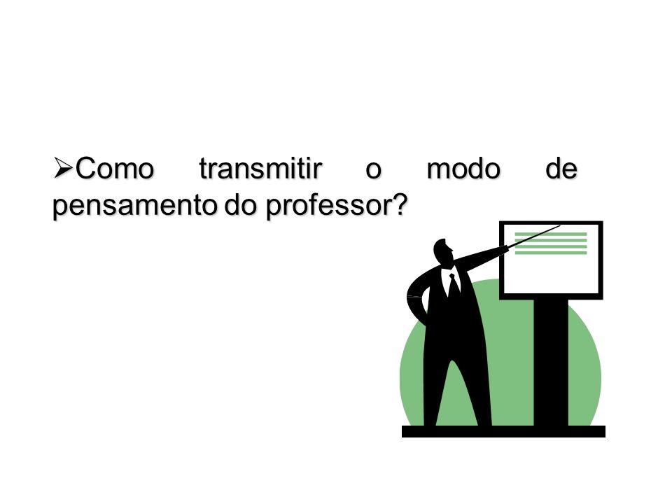 Como transmitir o modo de pensamento do professor