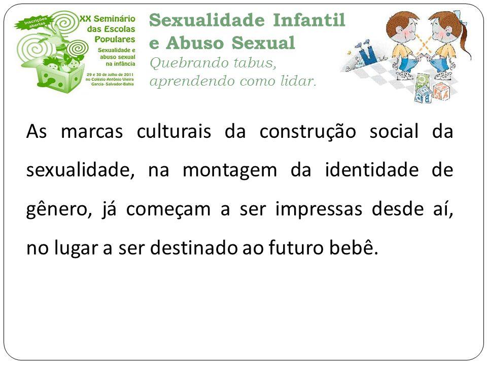 As marcas culturais da construção social da sexualidade, na montagem da identidade de gênero, já começam a ser impressas desde aí, no lugar a ser destinado ao futuro bebê.