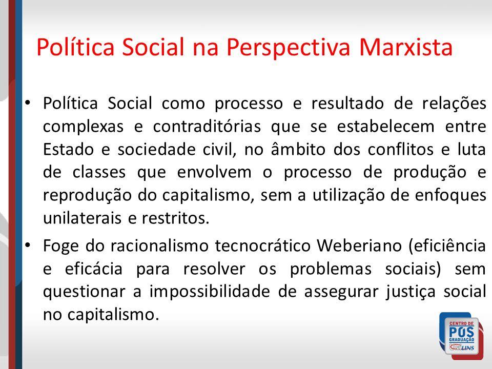 Política Social na Perspectiva Marxista