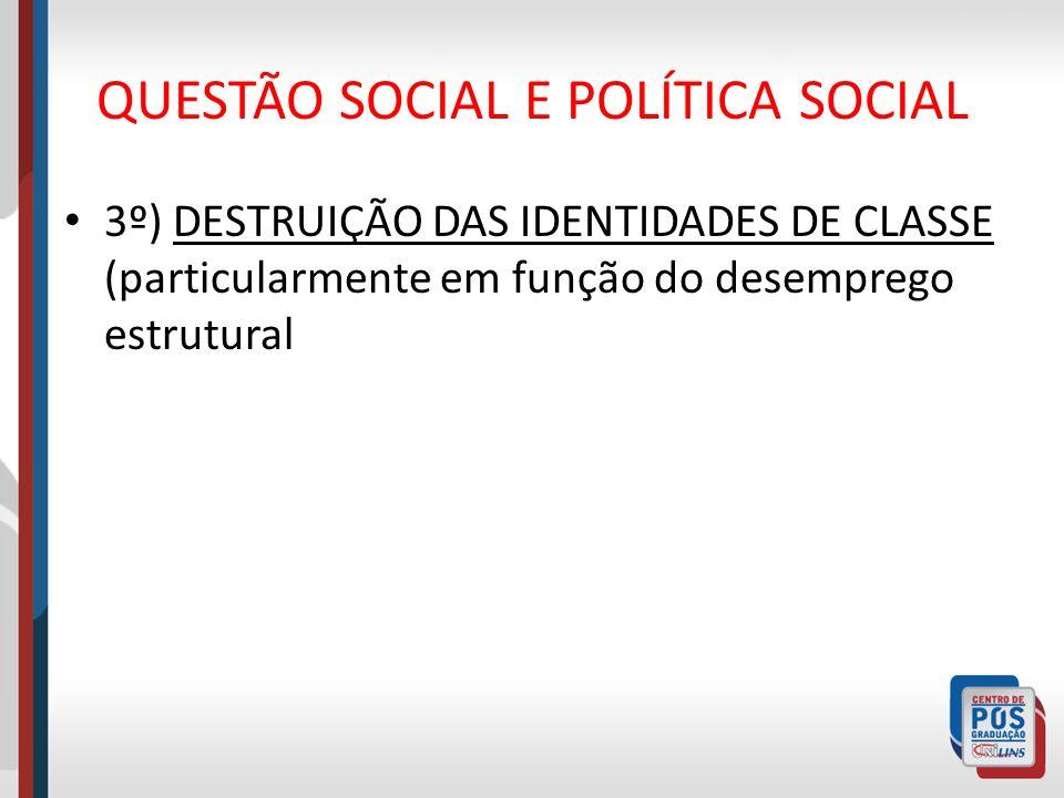 QUESTÃO SOCIAL E POLÍTICA SOCIAL