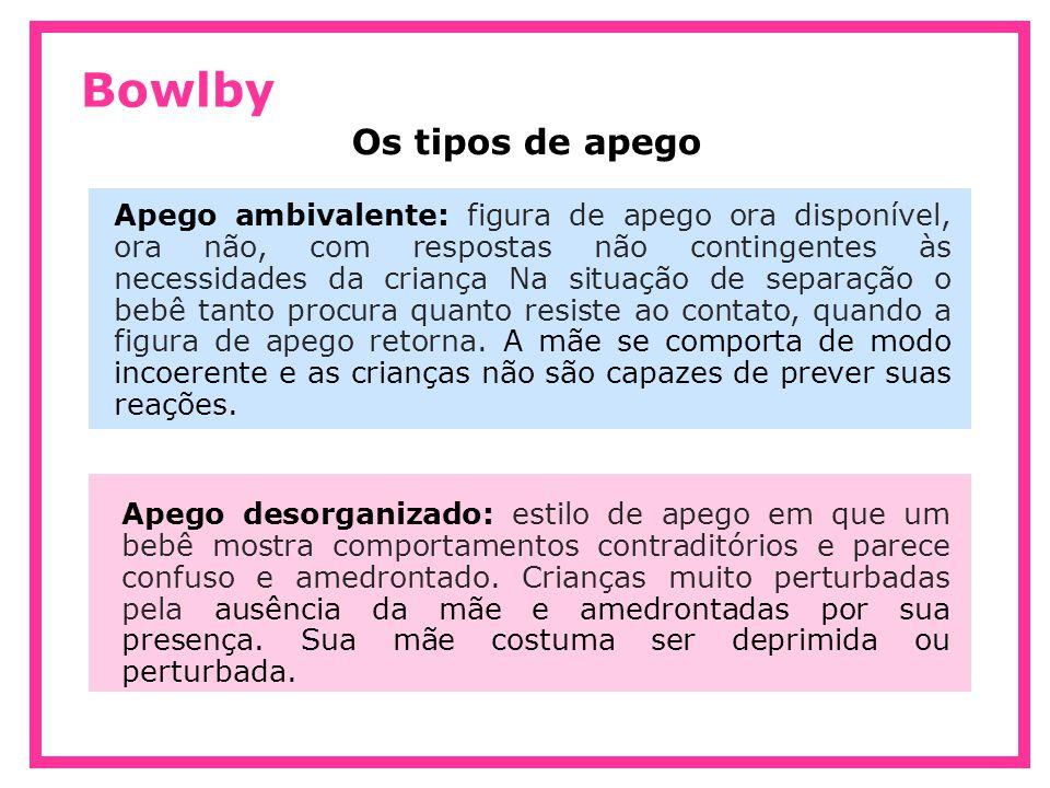 Bowlby Os tipos de apego