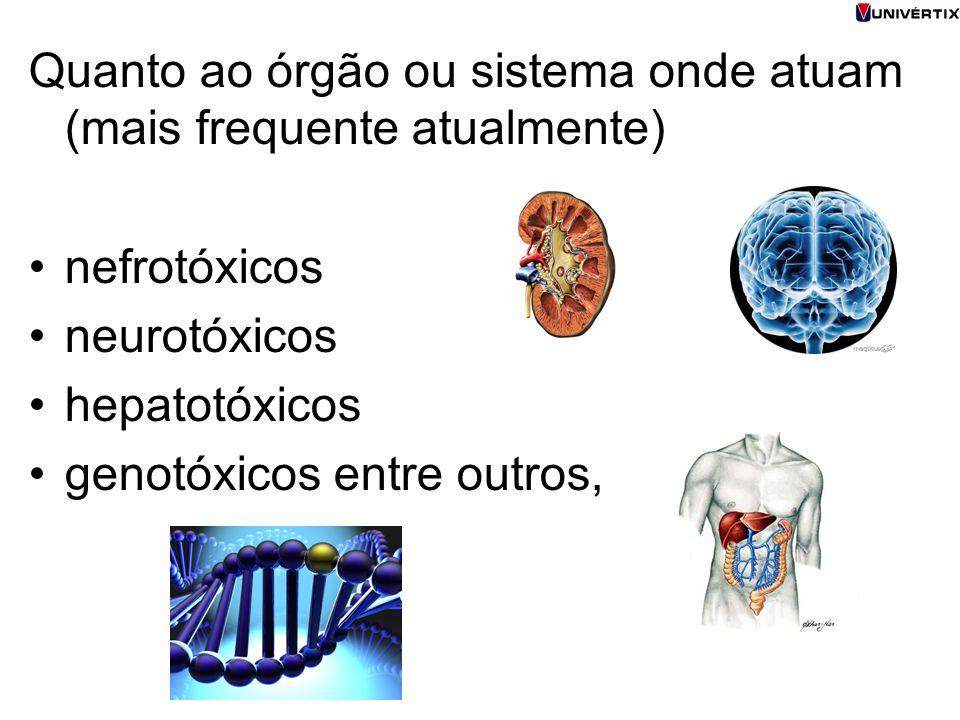 Quanto ao órgão ou sistema onde atuam (mais frequente atualmente)
