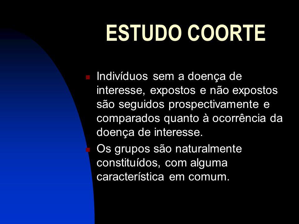 ESTUDO COORTE