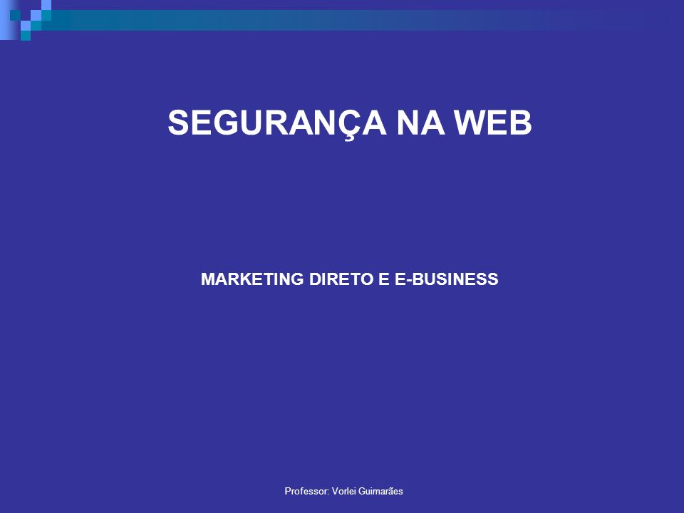 MARKETING DIRETO E E-BUSINESS