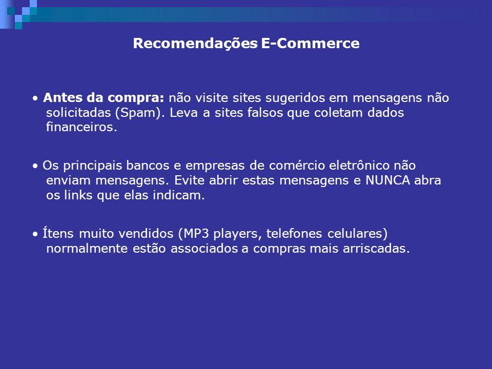 Recomendações E-Commerce