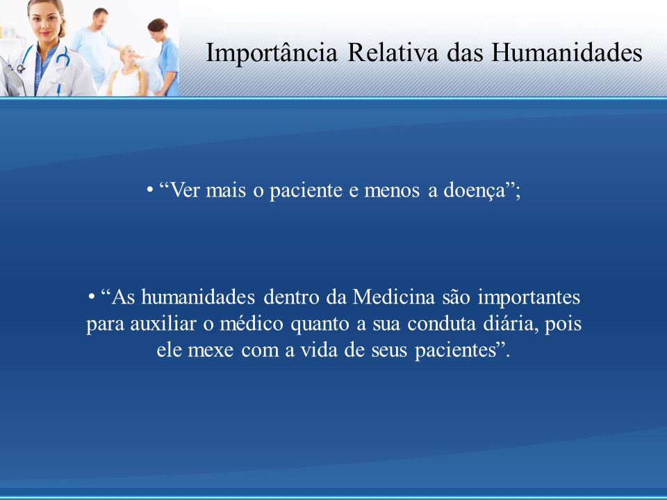 Importância Relativa das Humanidades