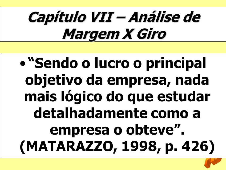 Capítulo VII – Análise de Margem X Giro