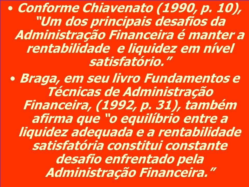Conforme Chiavenato (1990, p