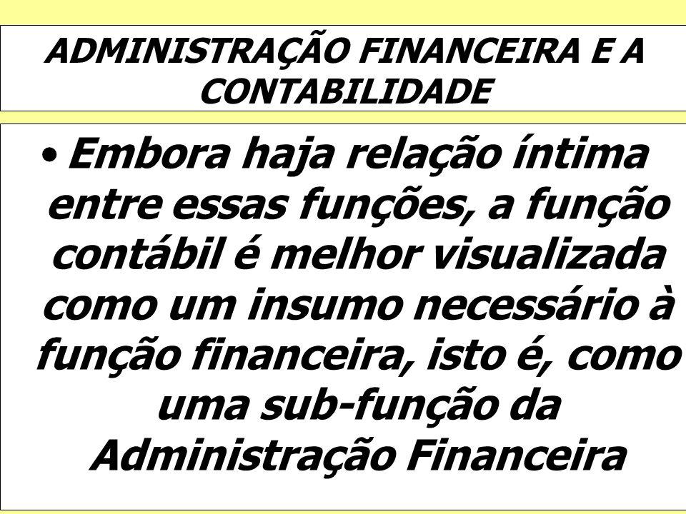 ADMINISTRAÇÃO FINANCEIRA E A CONTABILIDADE
