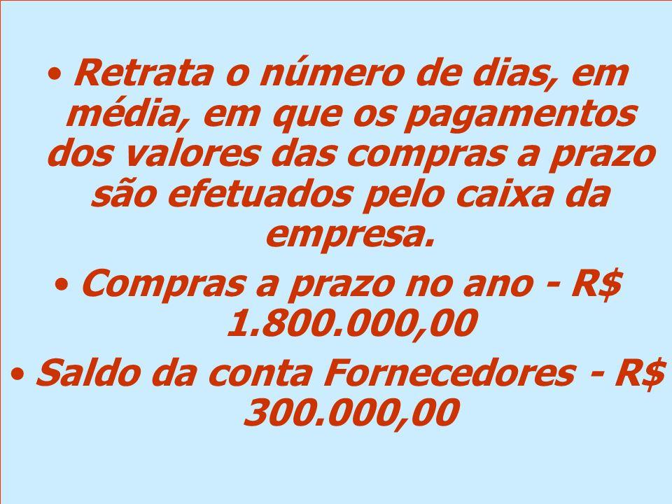 Compras a prazo no ano - R$ 1.800.000,00