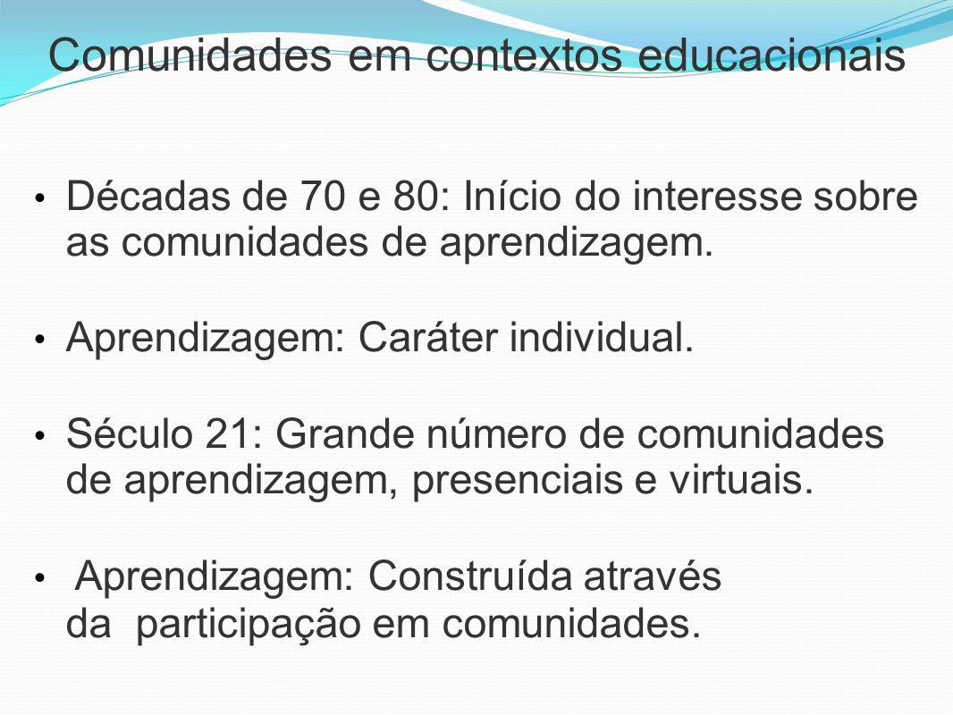 Comunidades em contextos educacionais
