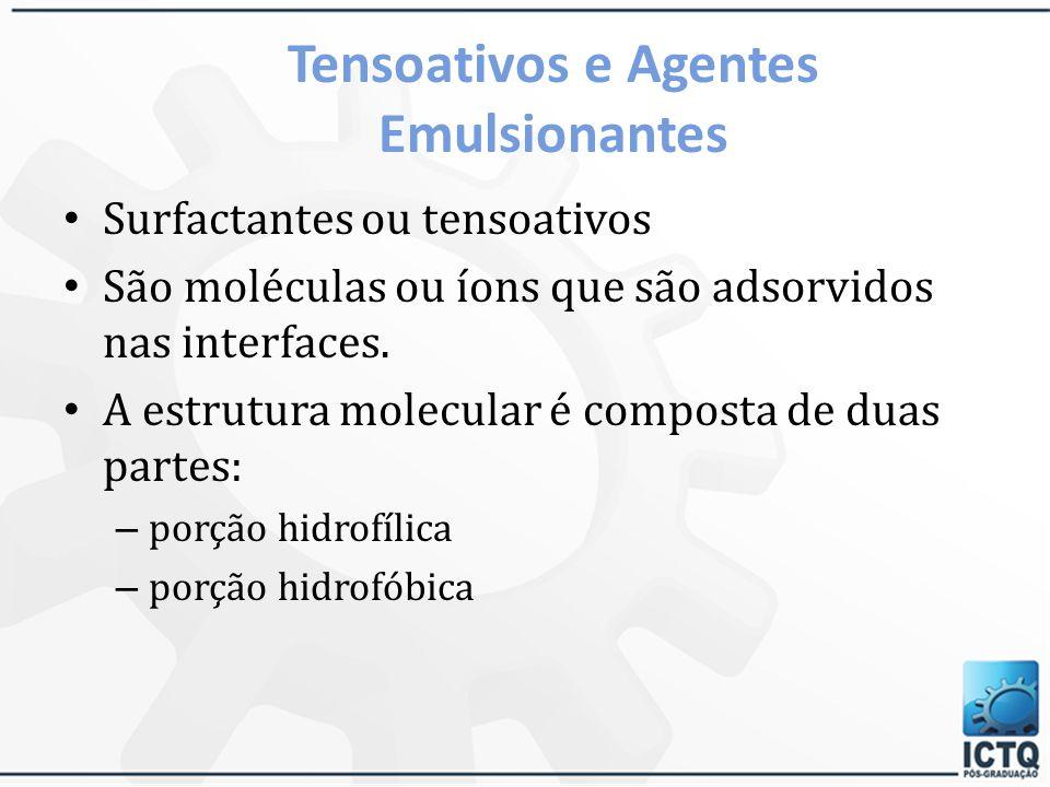 Tensoativos e Agentes Emulsionantes