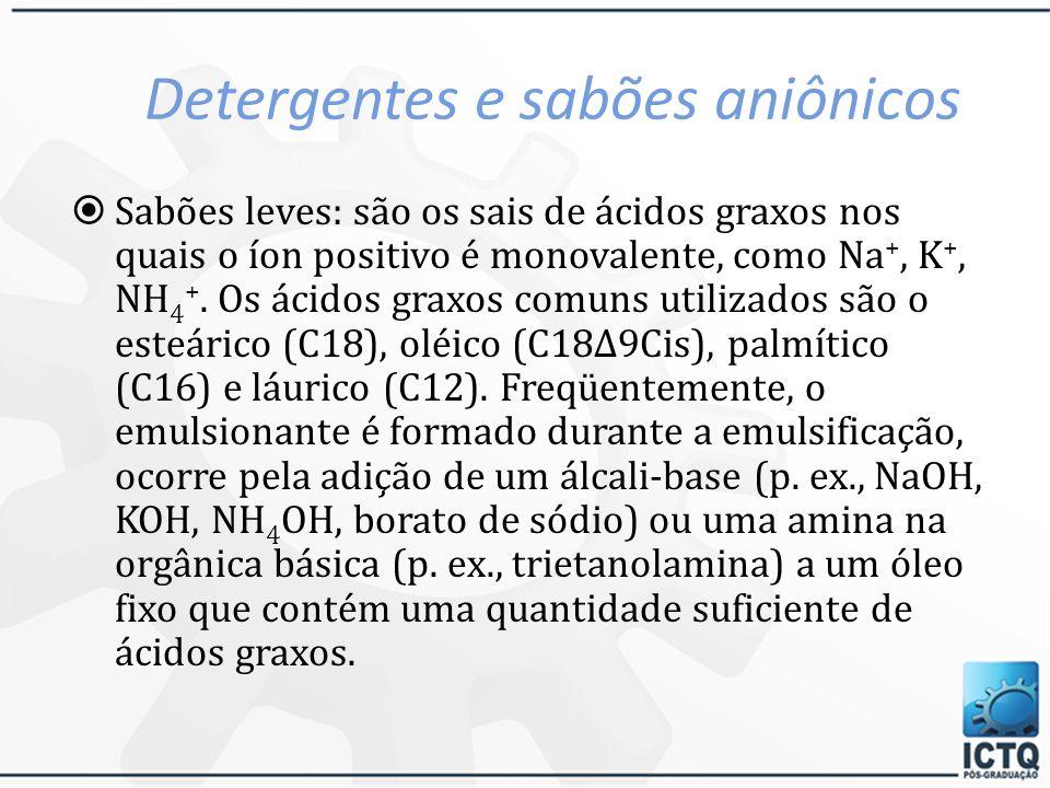 Detergentes e sabões aniônicos