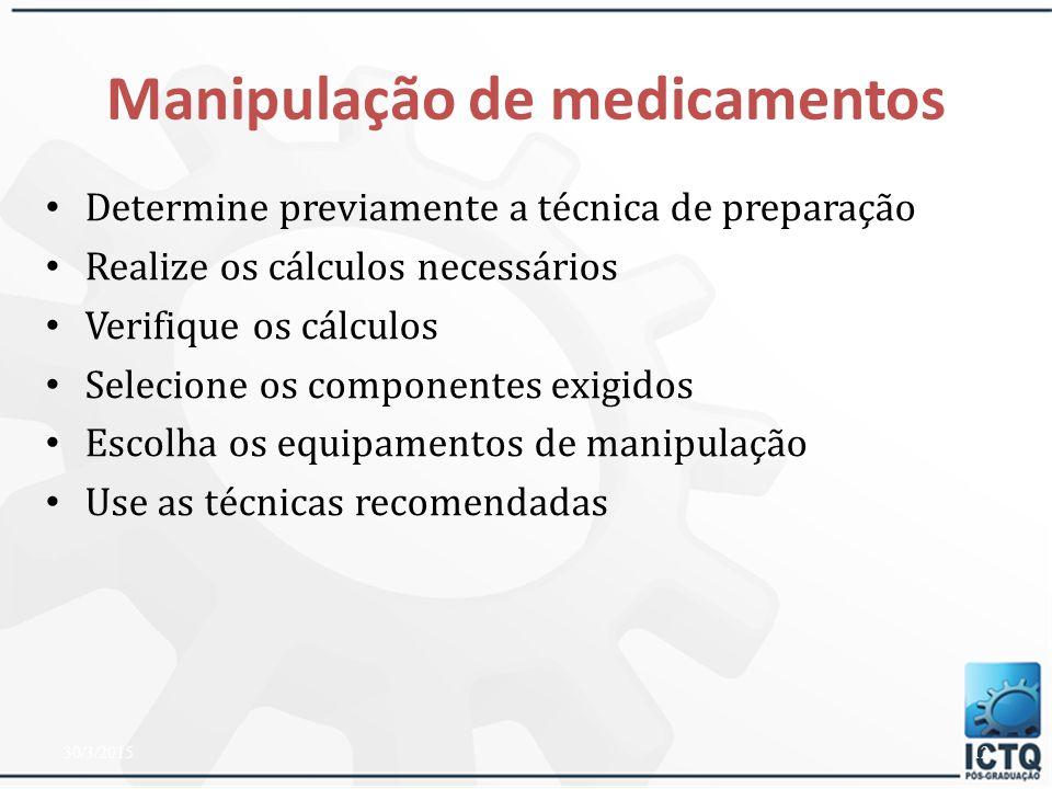 Manipulação de medicamentos