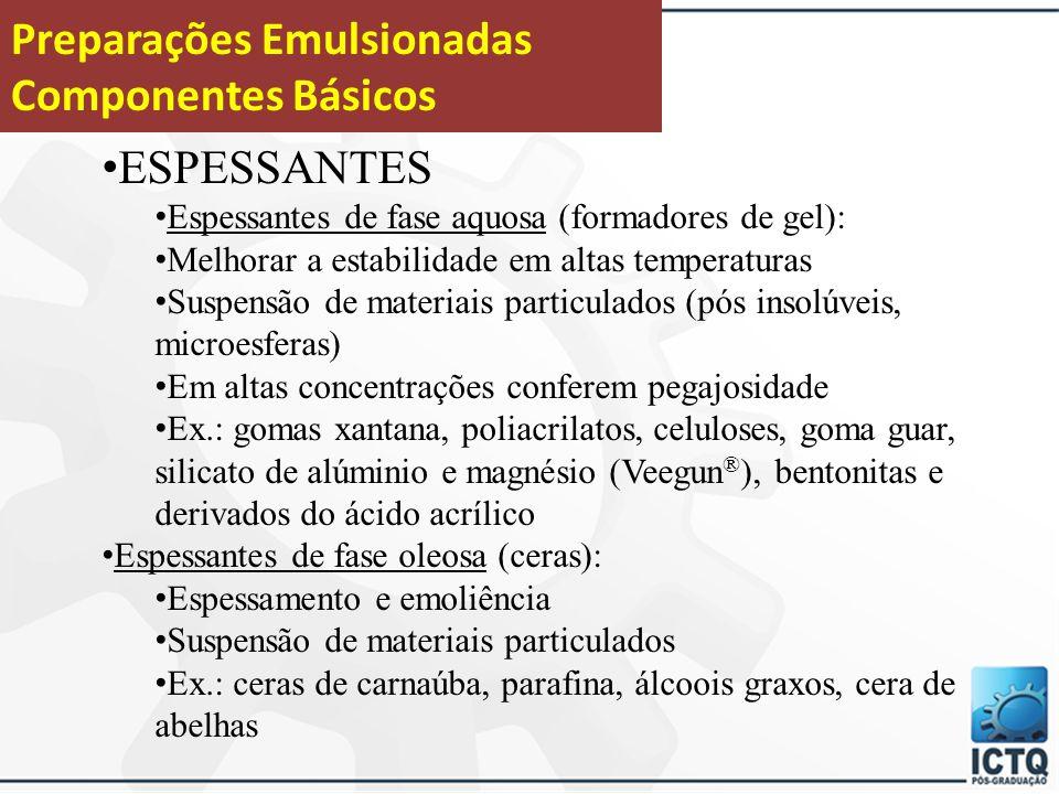 Preparações Emulsionadas Componentes Básicos