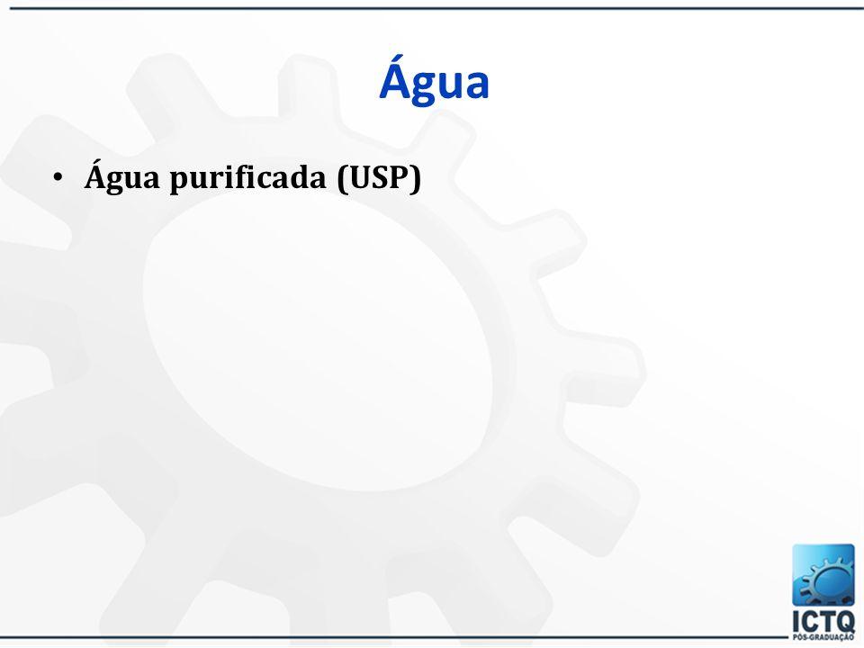 Água Água purificada (USP)