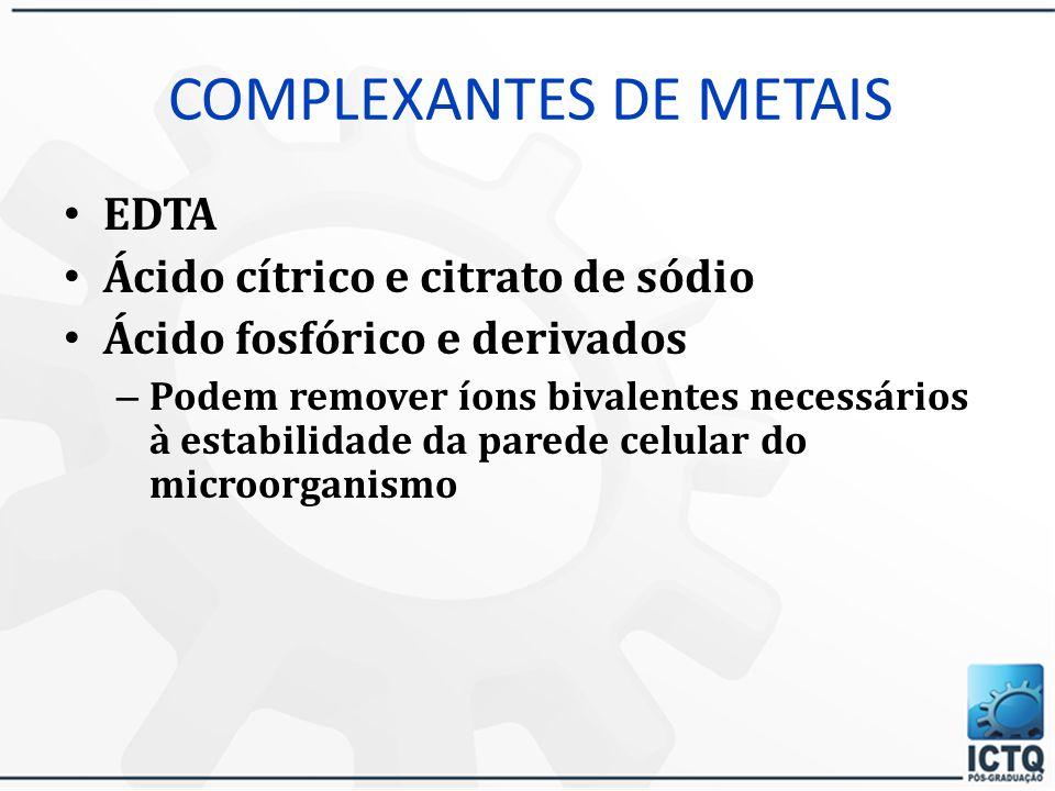 COMPLEXANTES DE METAIS