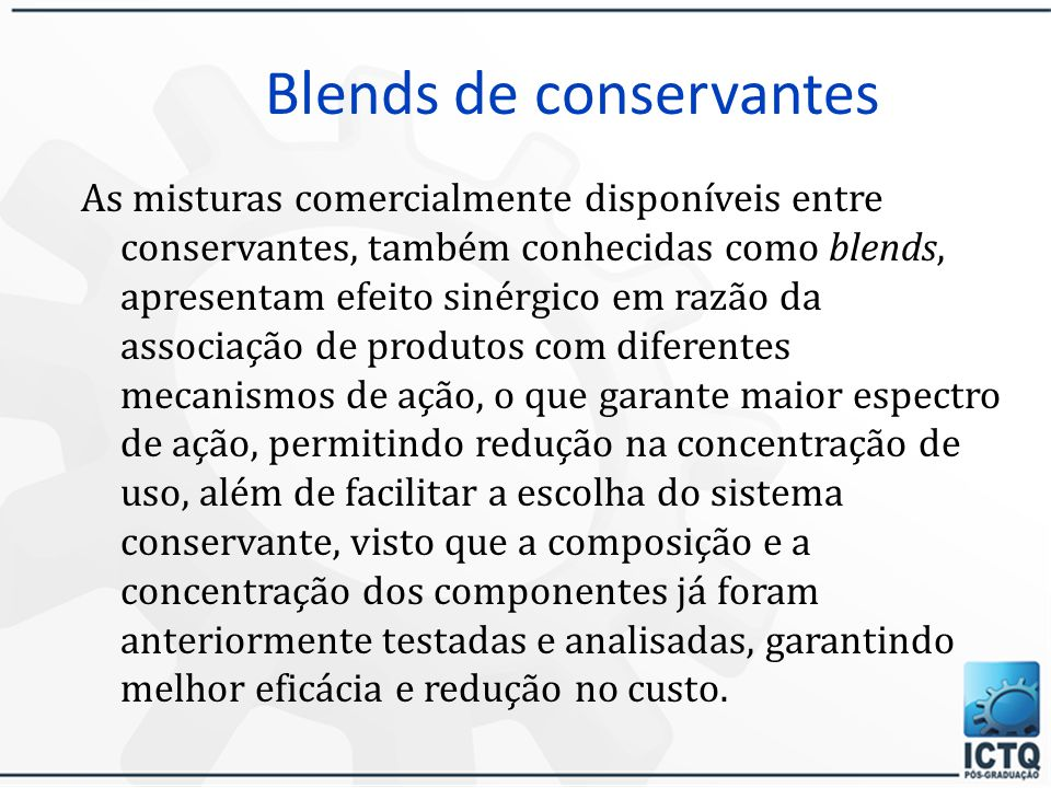 Blends de conservantes