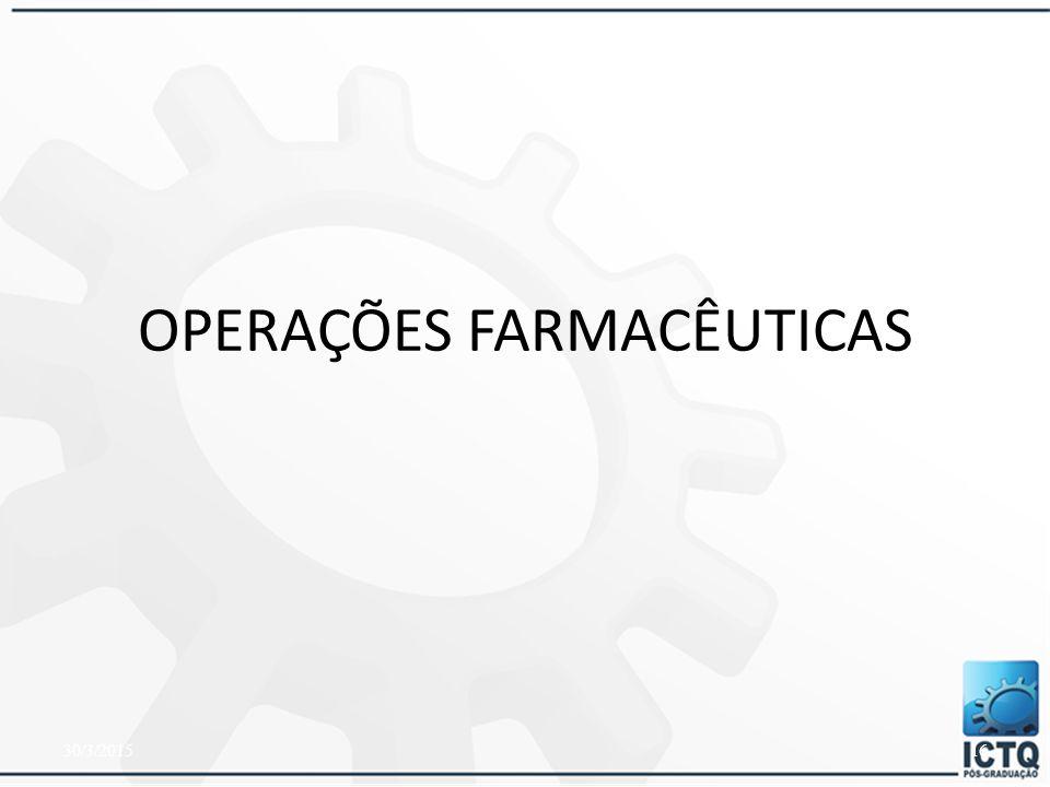 OPERAÇÕES FARMACÊUTICAS