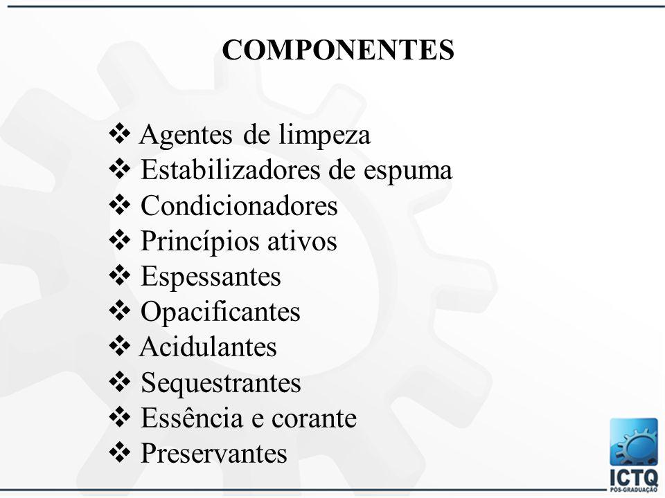 Estabilizadores de espuma Condicionadores Princípios ativos