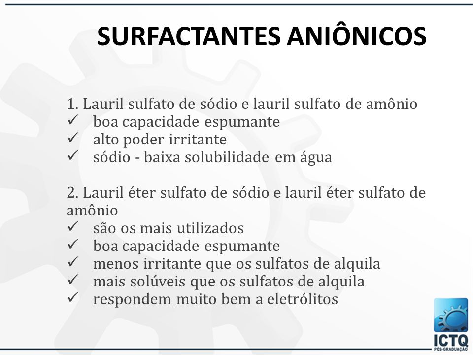 SURFACTANTES ANIÔNICOS