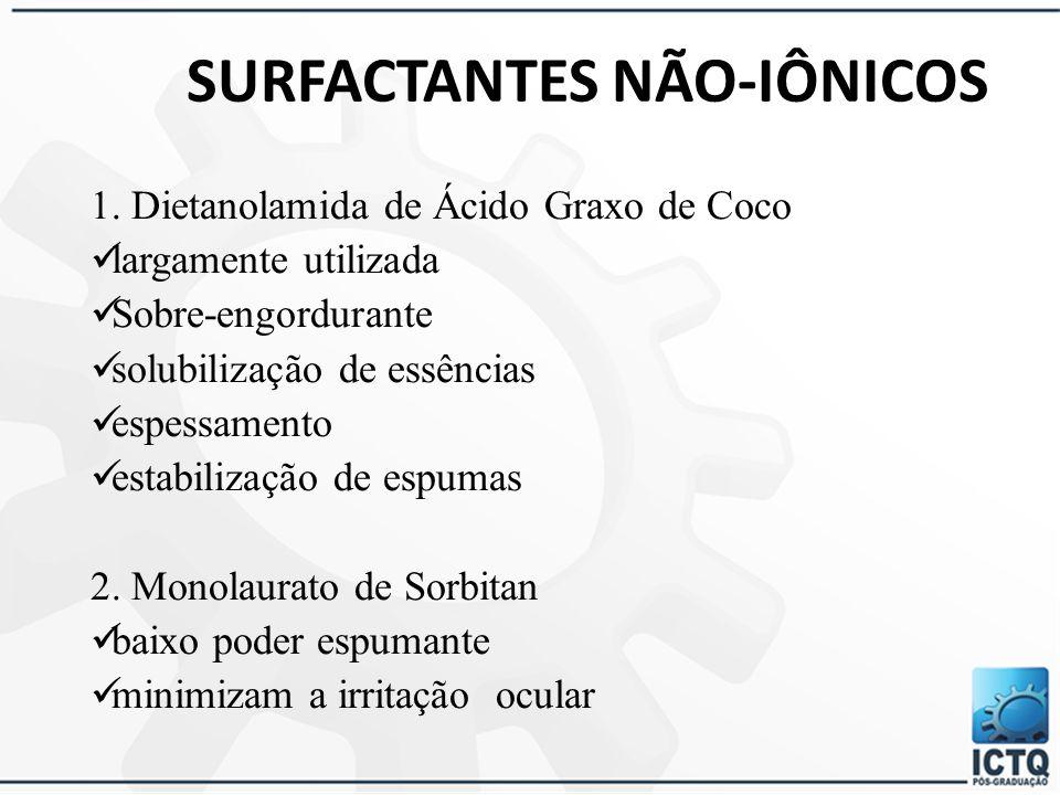 SURFACTANTES NÃO-IÔNICOS