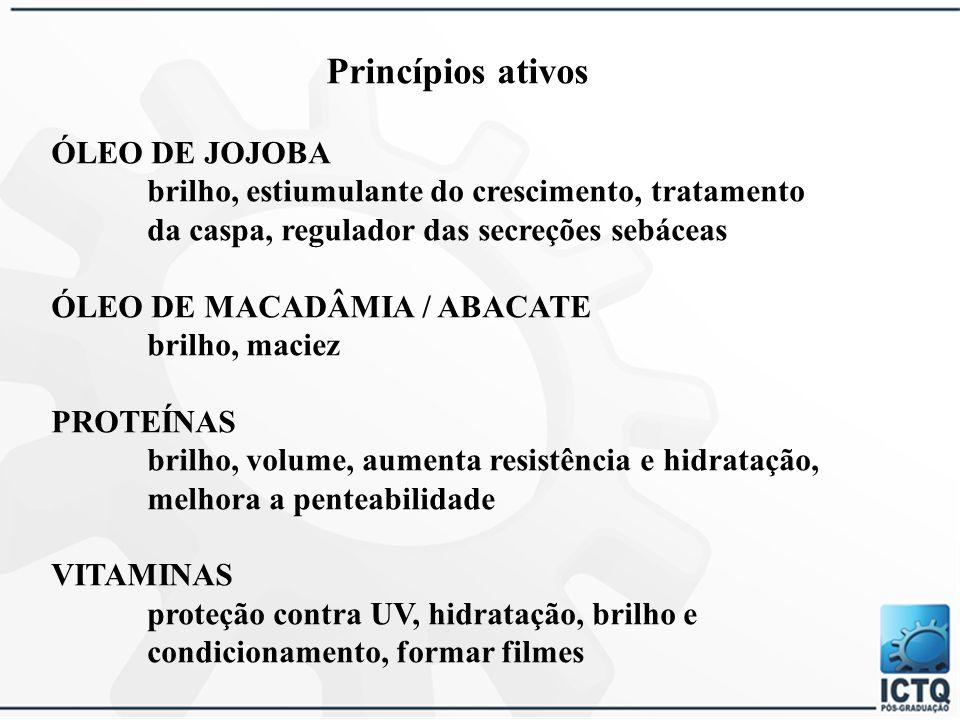 Princípios ativos ÓLEO DE JOJOBA
