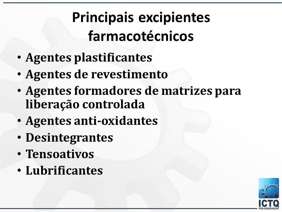Principais excipientes farmacotécnicos