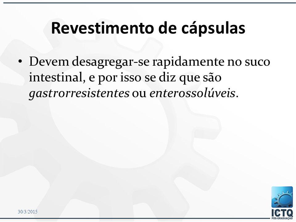Revestimento de cápsulas