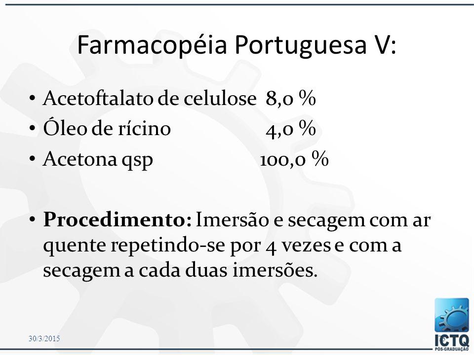 Farmacopéia Portuguesa V: