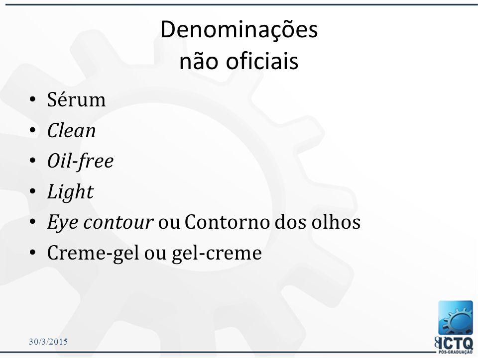 Denominações não oficiais