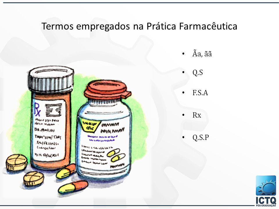 Termos empregados na Prática Farmacêutica