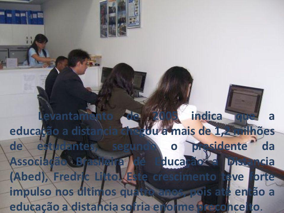 Levantamento de 2005 indica que a educação a distancia chegou a mais de 1,2 milhões de estudantes, segundo o presidente da Associação Brasileira de Educação a Distancia (Abed), Fredric Litto.