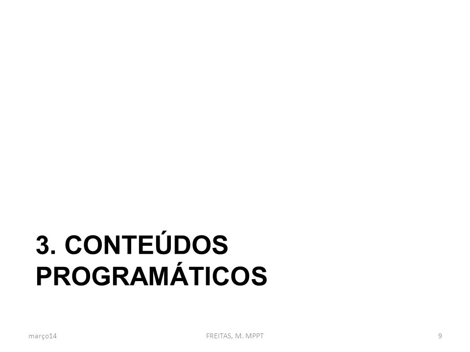 3. Conteúdos programáticos