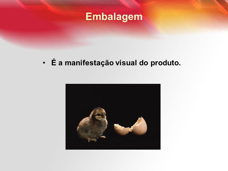Embalagem É a manifestação visual do produto.
